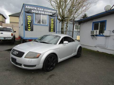 2002 Audi TT for sale at ARISTA CAR COMPANY LLC in Portland OR