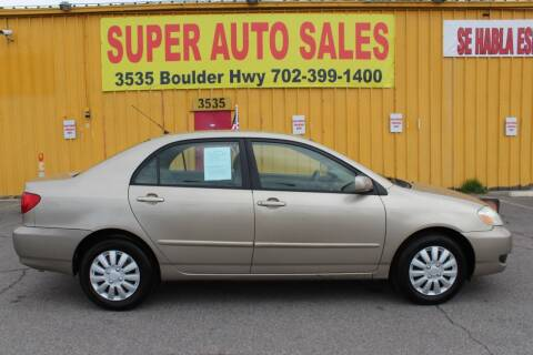 2006 Toyota Corolla for sale at Super Auto Sales in Las Vegas NV