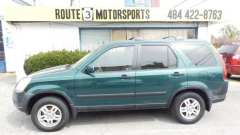 2002 Honda CR-V for sale at Route 3 Motors in Broomall PA