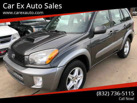 2003 Toyota RAV4 for sale at Car Ex Auto Sales in Houston TX