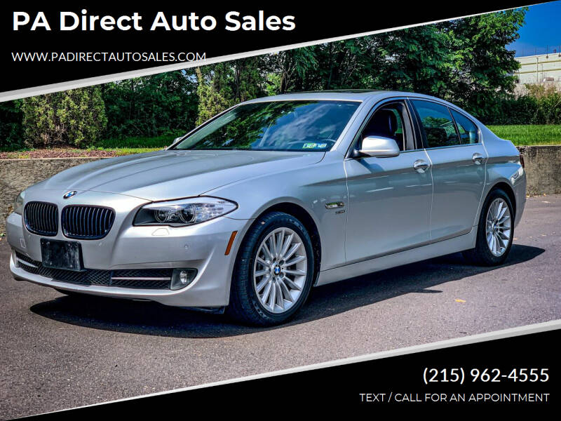 2012 BMW 5 Series for sale at PA Direct Auto Sales in Levittown PA