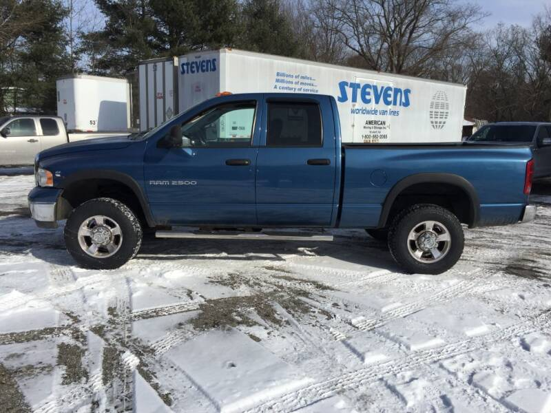 2005 Dodge Ram Pickup 2500 for sale at Perrys Auto Sales & SVC in Northbridge MA