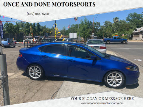 2013 Dodge Dart for sale at Once and Done Motorsports in Chico CA