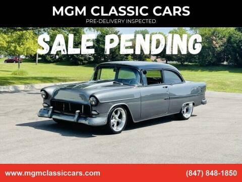 1955 Chevrolet Bel Air for sale at MGM CLASSIC CARS-New Arrivals in Addison IL