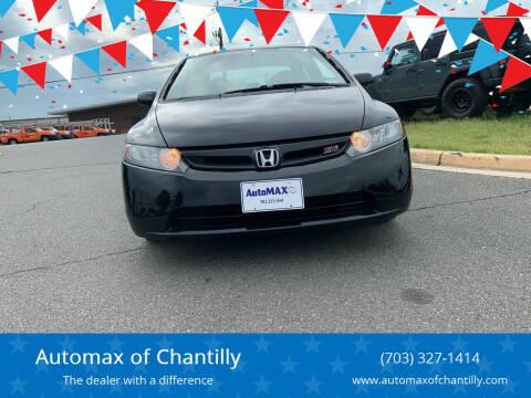 2007 Honda Civic for sale at Automax of Chantilly in Chantilly VA