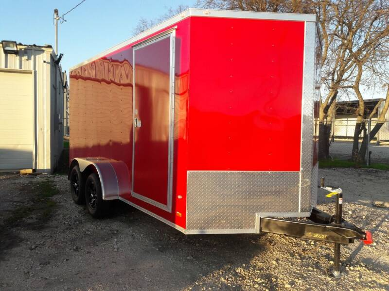 2020 COVERED WAGON W Custom wheels 7X14 TA for sale at Texas Auto Trailer Exchange - 7 x  Trailers in Cleburne TX