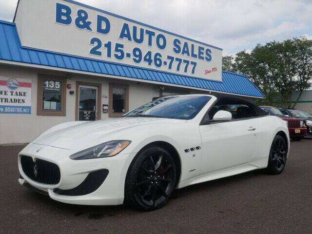 2014 Maserati GranTurismo for sale at B & D Auto Sales Inc. in Fairless Hills PA