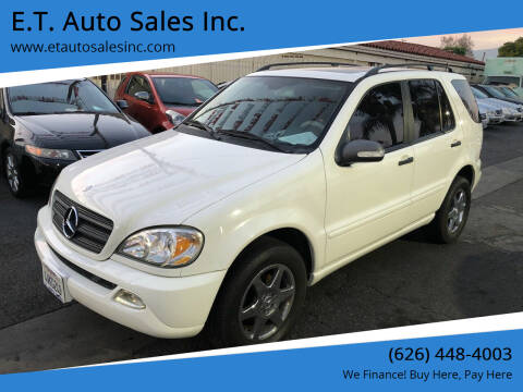 2002 Mercedes-Benz M-Class for sale at E.T. Auto Sales Inc. in El Monte CA