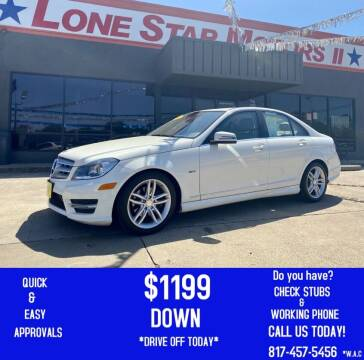 2012 Mercedes-Benz C-Class for sale at LONE STAR MOTORS II in Fort Worth TX