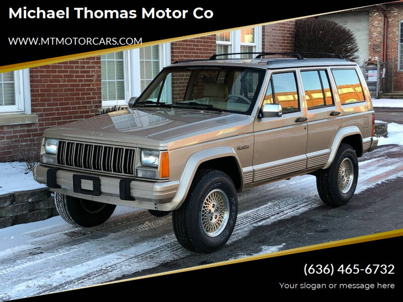 1993 Jeep Cherokee for sale at Michael Thomas Motor Co in Saint Charles MO