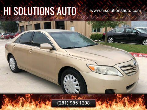 2010 Toyota Camry for sale at HI SOLUTIONS AUTO in Houston TX
