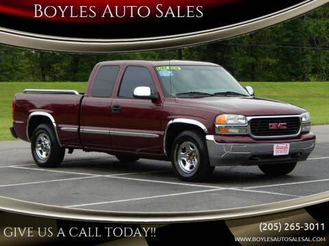 2000 GMC Sierra 1500 for sale at Boyles Auto Sales in Jasper AL