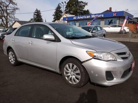 2012 Toyota Corolla for sale at All American Motors in Tacoma WA