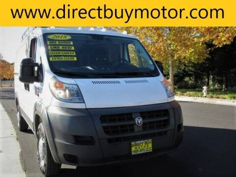 2018 RAM ProMaster Cargo for sale at Direct Buy Motor in San Jose CA