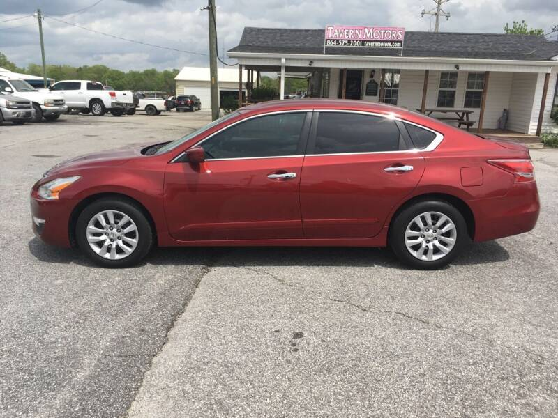 2013 Nissan Altima for sale at TAVERN MOTORS in Laurens SC