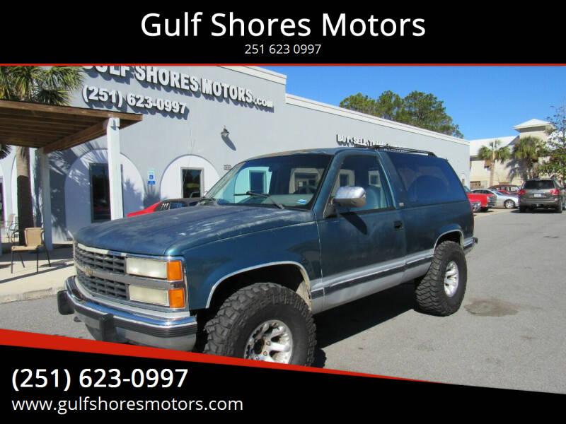 1993 Chevrolet Blazer for sale at Gulf Shores Motors in Gulf Shores AL