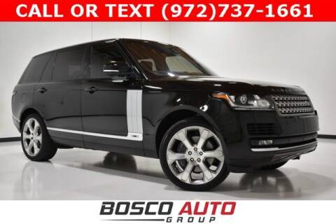 2017 Land Rover Range Rover for sale at Bosco Auto Group in Flower Mound TX