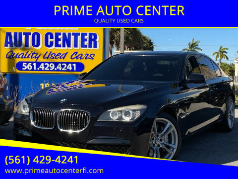 2012 BMW 7 Series for sale at PRIME AUTO CENTER in Palm Springs FL