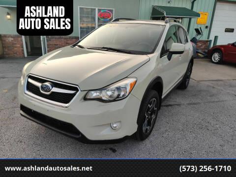 2013 Subaru XV Crosstrek for sale at ASHLAND AUTO SALES in Columbia MO