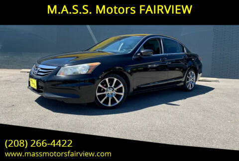 2012 Honda Accord for sale at M.A.S.S. Motors - Fairview in Boise ID