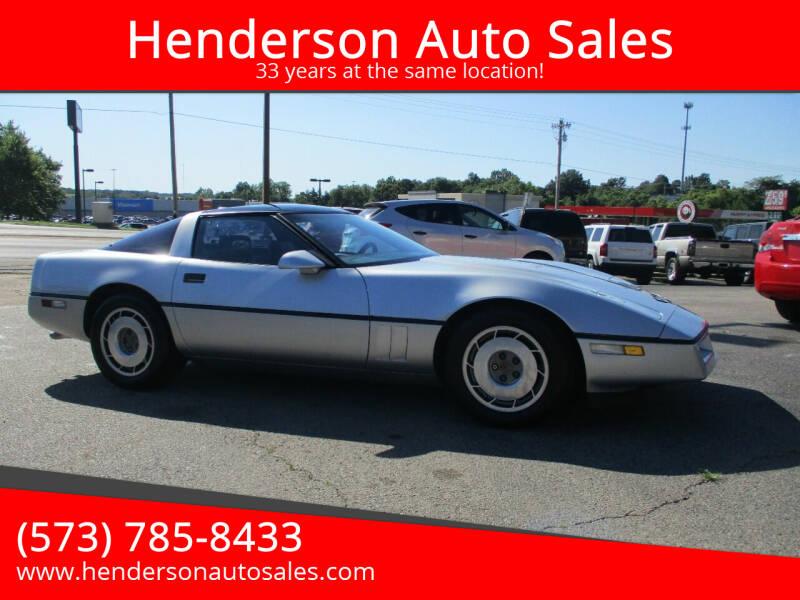 1987 Chevrolet Corvette for sale at Henderson Auto Sales in Poplar Bluff MO