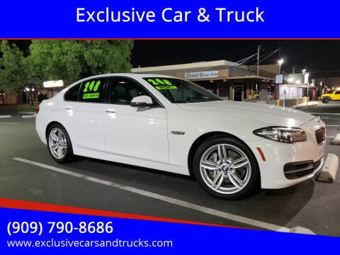 2014 BMW 5 Series for sale at Exclusive Car & Truck in Yucaipa CA