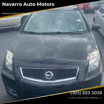 2011 Nissan Sentra for sale at Navarro Auto Motors in Hialeah FL