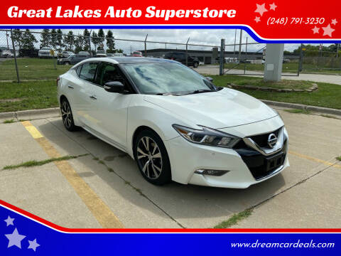 2017 Nissan Maxima for sale at Great Lakes Auto Superstore 2 in Waterford MI