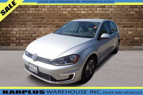 2016 Volkswagen e-Golf for sale at Karplus Warehouse in Pacoima CA