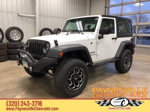 2017 Jeep Wrangler for sale at Paynesville Chevrolet - Buick in Paynesville MN