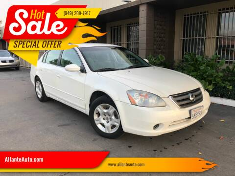 2004 Nissan Altima for sale at AllanteAuto.com in Santa Ana CA