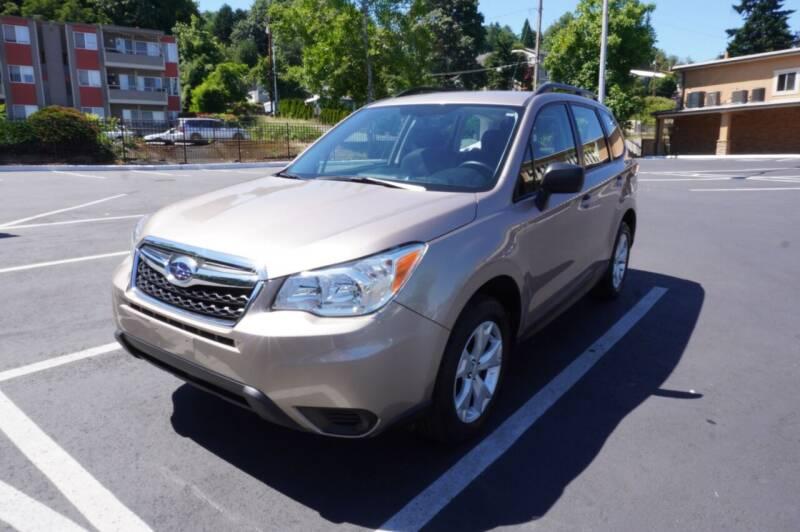 2016 Subaru Forester for sale at Precision Motors LLC in Renton WA