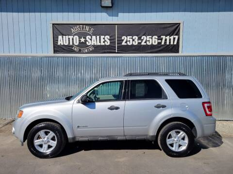 2009 Ford Escape Hybrid for sale at Austin's Auto Sales in Edgewood WA