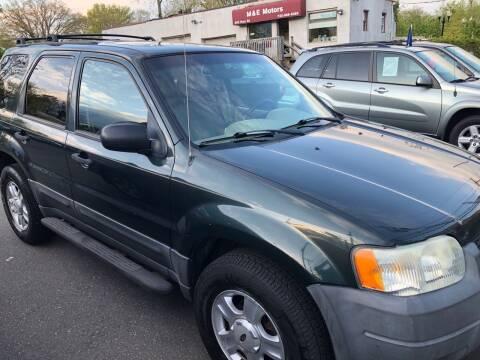 2003 Ford Escape for sale at M & E Motors in Neptune NJ