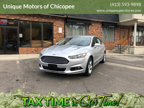 2016 Ford Fusion for sale at Unique Motors of Chicopee in Chicopee MA