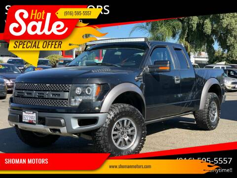 2010 Ford F-150 for sale at SHOMAN MOTORS in Davis CA