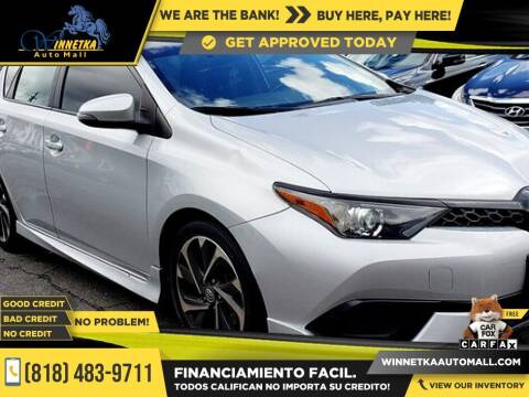 2017 Toyota Corolla iM for sale at Winnetka Auto Mall in Winnetka CA