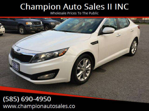 2013 Kia Optima for sale at Champion Auto Sales II INC in Rochester NY