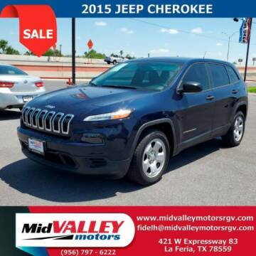 2015 Jeep Cherokee for sale at Mid Valley Motors in La Feria TX