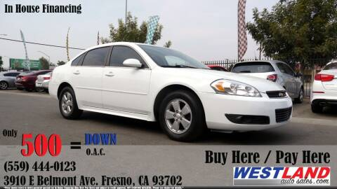 2011 Chevrolet Impala for sale at Westland Auto Sales in Fresno CA