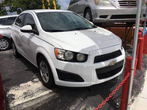 2015 Chevrolet Sonic for sale at Versalles Auto Sales in Hialeah FL