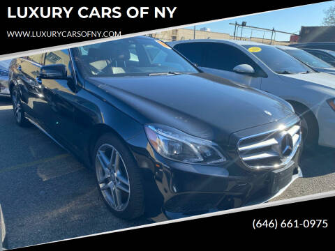 2016 Mercedes-Benz E-Class for sale at LUXURY CARS OF NY in Queens NY