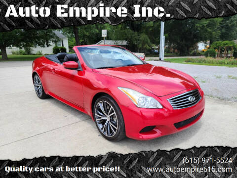 2009 Infiniti G37 Convertible for sale at Auto Empire Inc. in Murfreesboro TN