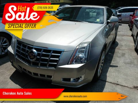 2013 Cadillac CTS for sale at Cherokee Auto Sales in Acworth GA