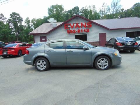 2012 Dodge Avenger for sale at Evans Motors Inc in Little Rock AR