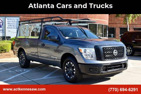 2017 Nissan Titan for sale at Atlanta Cars and Trucks in Kennesaw GA