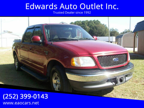 2001 Ford F-150 for sale at Edwards Auto Outlet Inc. in Wilson NC