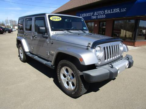 2014 Jeep Wrangler Unlimited for sale at LeBoeuf Auto Sales in Waterford PA
