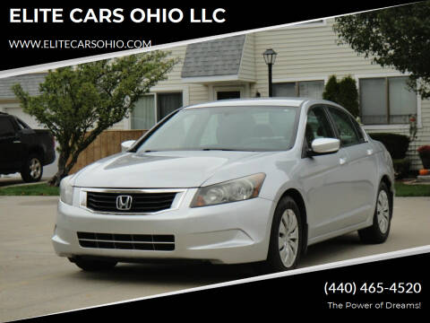 2010 Honda Accord for sale at ELITE CARS OHIO LLC in Solon OH