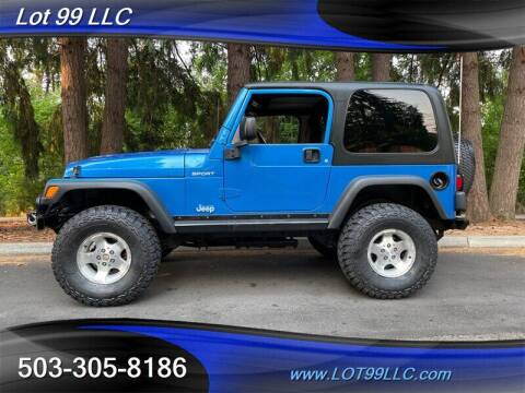 2003 Jeep Wrangler for sale at LOT 99 LLC in Milwaukie OR